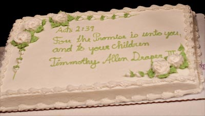sayings for baptism cakes