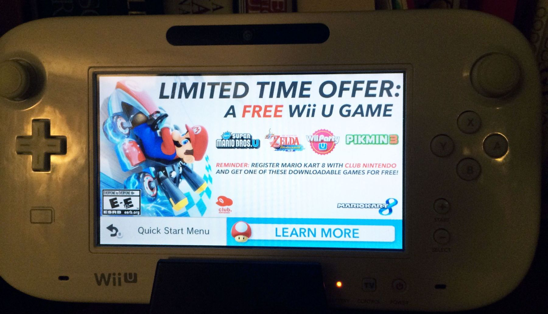 Ads on the Wii U Gamepad Upsets Me
